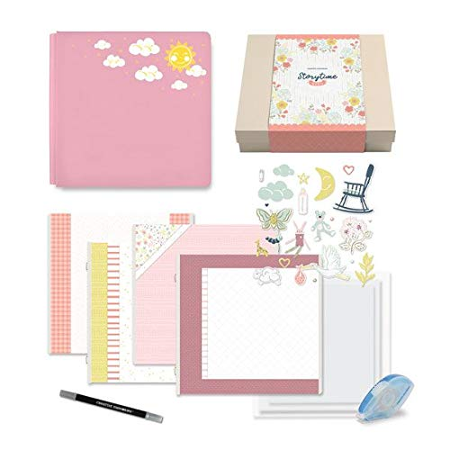 Storytime Girl Gift Box Bundle Scrapbooking Kit for Baby Girl