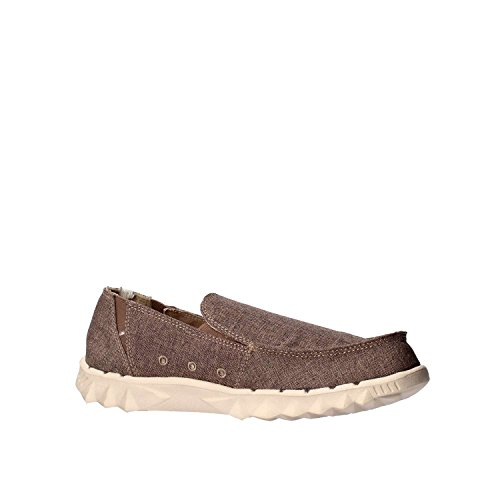 Dude Shoes Men's Farty Linen Chocolate Slip On / Mule brown KfsoH2q2C