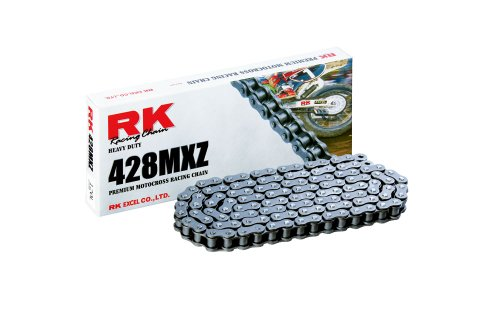 RK Racing Chain 428MXZ-130 Steel 130-Links Heavy Duty Chain with Connecting Link