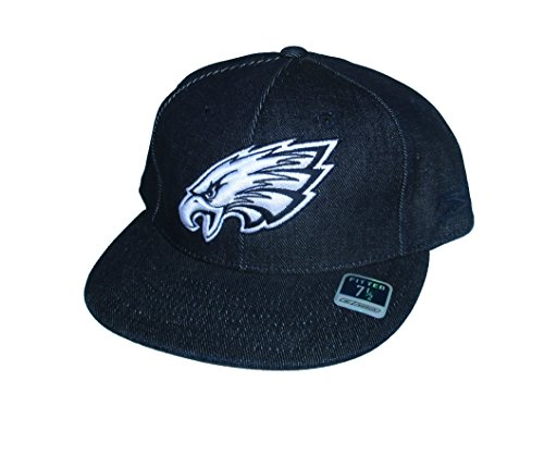 Philadelphia Eagles Fitted Size 7 1/2 NFL Authentic Blue Jean Denim Style Hat Cap ()