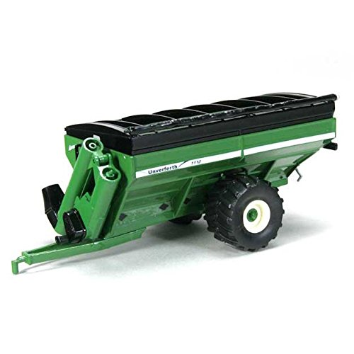 1/64th Unverferth 1110 Grain Cart with Flotation Tires in Green (Red Scale 64th)