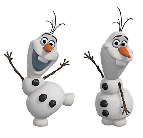 (RoomMates Disney Frozen Olaf The Snow Man Peel And Stick Wall Decals)