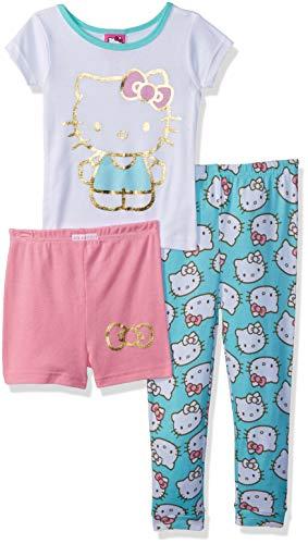 Hello Kitty Girls' Little 3-Piece Cotton Pajama Set, Precious Kitty, 4]()