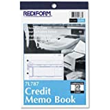 """Rediform - 4 Pack - Credit Memo Book 5 1/2 X 7 7/8 Carbonless Triplicate 50 Sets/Book """"Product Category: Forms Recordkeeping & Reference Materials/Forms & Recordkeeping Systems"""""""