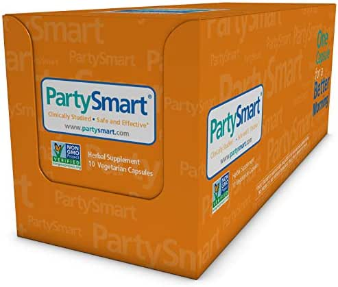 Himalaya PartySmart for Hangover Prevention, Alcohol Metabolism and a Better Morning After, 10 Capsules 250mg (1 Pack)