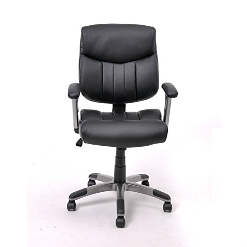 Executive Chair Galaxy (Generic Della Furniture Mid-Back Executive Office Desk Task Computer Chair Black)