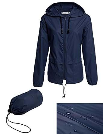 Bifast Women's Rainwear Active Outdoor Hooded Cycling Packable and Lightweight Jacket