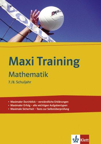 Mathematik: 7./8. Schuljahr (MAXI Training)