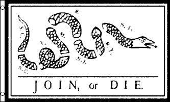 AZ FLAG Join or Die Franklin Flag 3' x 5' - Join, or Die Flags 90 x 150 cm - Banner 3x5 - 150 Die