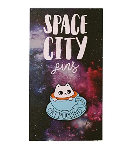 (Space City Pins Catpuccino Mug Metal)