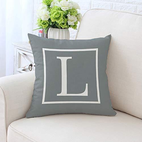 Yilooom Funda de Almohada Decorativa de Lino y algodón Gris ...