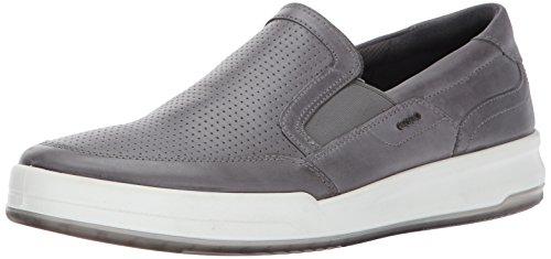ECCO Men's Jack Perforated Slip on Fashion Sneaker,Titanium,43 EU/9-9.5 M US