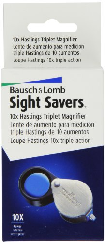 Bausch and Lomb Sight Savers Hastings Triplet 10X Magnifier 816171 (Bausch And Lomb Jewelers Loupe)