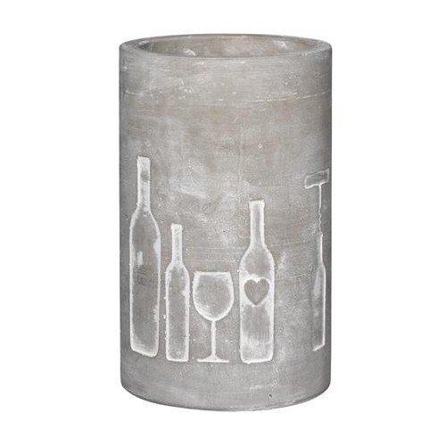 P.e.T. Vino Beton Weinkühler Flasche + Glas ca.21 cm hoch