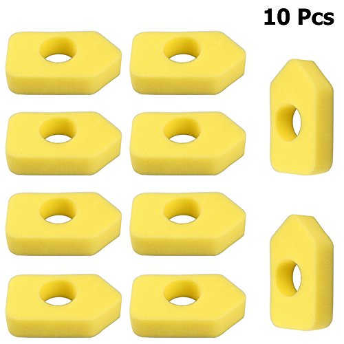 VACFIT for Briggs & Stratton 698369 4216 5088 5099 5086K Foam Air Filter Element Replace MTD 490-200-0011 Lawn Mower Dust Replacement Kit 10Pcs