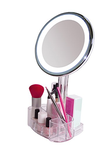 Daisi Magnifying Lighted Makeup Mirror With Cosmetic