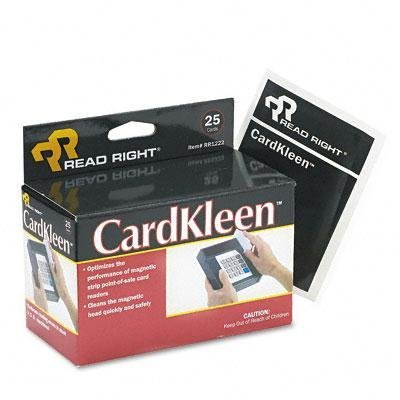 Read Right - Cardkleen Presaturated Magnetic Head Cleaning Cards 25/Box ''Product Category: Computer Accessories/Disc Drive & Head Cleaners''