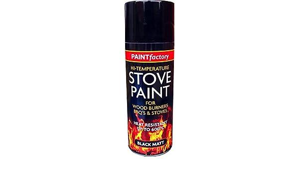 200 ml resistente al calor negro mate Spray de pintura profesional estufa alta temperatura: Amazon.es: Bricolaje y herramientas