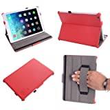 Coodio® Smart Apple iPad Mini 2 and iPad Mini 1 Multi-Stand Leather Cover Built-in Hand Grip with Auto Wake Sleep Mode (Tomato Red)