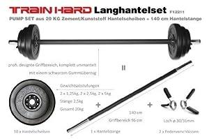TrainHard LanghantelSet Aerobic Pump Set Hantelset 20kg