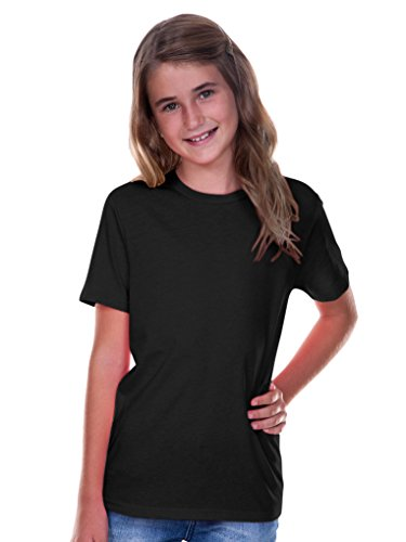 (Kavio! Youth Crew Neck Short Sleeve Tee Jersey (Same YJC0263) Black)