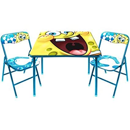 Exceptionnel Kid Furniture Table Set Spongebob Chair Nickelodeon Activity Kids New  Chairs Square Disney Character 2 Seat