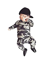 Sumen Newborn Kids Baby Boys Outfits Clothes Camouflage T-shirt Tops+Long Pants Set