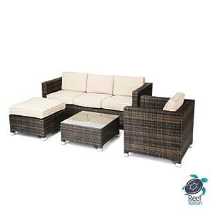 Reef Rattan 16670190 4 Piece Conversation Sofa Set