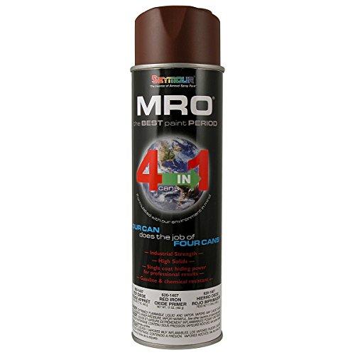 Spray Paint, Red Iron Oxide Primer MRO Industrial Enamel Spray Paint, 20 Fluid Ounce