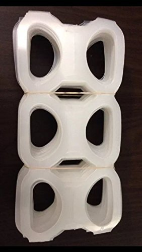 Plastic 6 (Six) Pack Rings for 12 Ounce Beer / Soda Cans 200 Count New