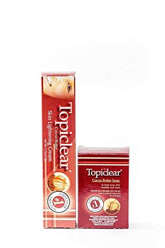 Topiclear Cocoa Butter Skin Lightening Cream & Cocoa Butter Soap 1.76oz