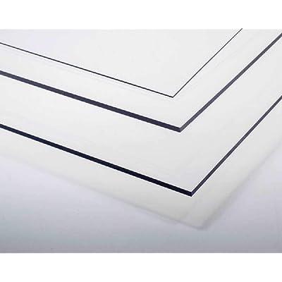 Placa de plástico PVC transparente 0,4 x 328 x 475 mm: Juguetes y juegos