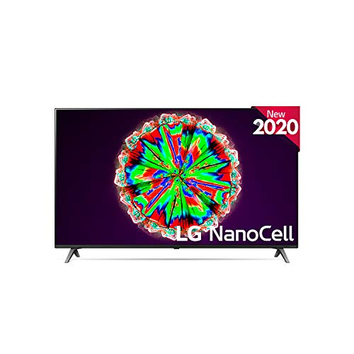 LG 55NANO806NA – Smart TV 4K NanoCell 139 cm, 55″ con Inteligencia Artificial, Procesador Inteligente Quad Core, Deep Learning, Local Dimming, HDR 10 Pro, HLG, 17,6 Kg, 1232 x 771 x 232 mm