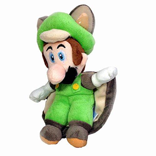 Squirrel Flying Red (New Super Mario Bros. U Flying Squirrel Luigi Soft Plush Toy Stuffed Animal Green 9