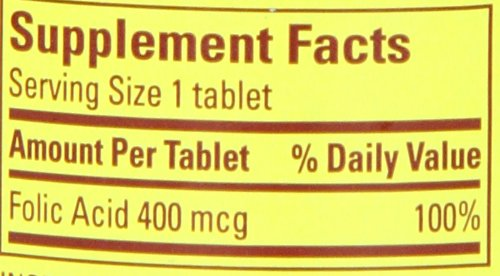 031604012748 - Nature Made Folic Acid 400mcg, 250 Tablets carousel main 1