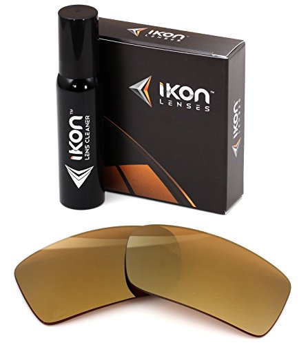 Polarized Ikon Iridium Replacement Lenses For Electric Technician Sunglasses - 24K Gold - Sunglasses Technician