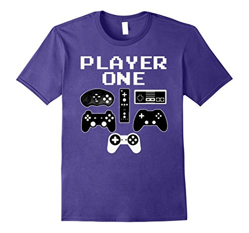 Funny Halloween Games Costumes (Mens PLAYER ONE Funny Video Game Halloween Costume Gamer T Shirt Small)
