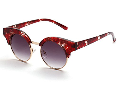 Heartisan Vintage Round Lens Anti-UV Polarized Cat Eye Sunglasses C3 (Kitesurf Sunglasses)