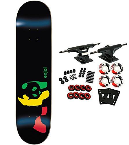 ENJOI Skateboards RASTA PANDA Complete Skateboard - Skateboard Resin Panda Deck