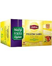 شاي اسود العلامة الصفراء من ليبتون - 50 كيس شاي