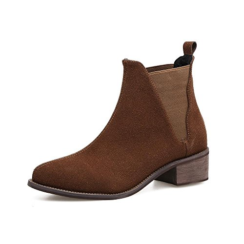 and Outdoor Heeled autumn Women'S Fur High Boots YC L Brown Black Shoes Winter Brown Boots wI0q15C