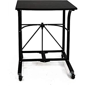 picture of Origami Fully Assembled Folding Portable Laptop Trolley, Steel frame Table,Small Computer Desk,Craft Desk,Gaming Desk,Storage Space Saving Work Station, Home office,Small