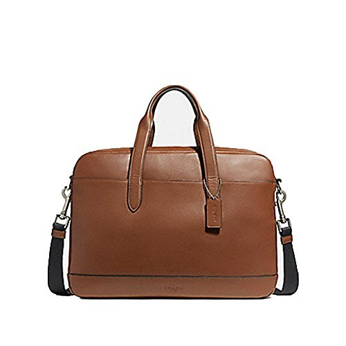 Coach Hamilton Leather Briefcase Messenger Tote - F22529 Saddle