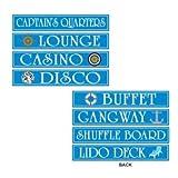 Cruise Ship Sign Cutouts   (4/Pkg)