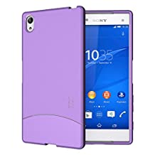 TUDIA Ultra Slim Full-Matte ARCH TPU Bumper Protective Case for Sony Xperia Z5 Premium Version (Purple)