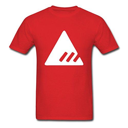(ATTO Custom Printed Men's Destiny New Monarchy T-Shirts Red XL)