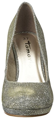 Tamaris Damen 22407 Pumps Silber (Platinum Glam)