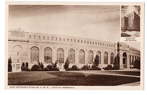 Vintage Unused Postcard of East Entrance University of Nebraska Stadium 143648