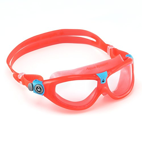Aqua Sphere Seal Kid 2 Swim Goggle, Clear Lens / Coral - Jumping Fish Buckle