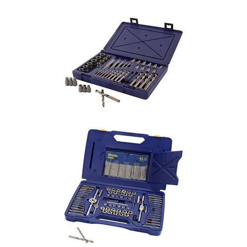 IRWIN HANSON Master Extraction Set and Machine Screw/Fractional/Metric Tap and Hex Die and Drill Bit...
